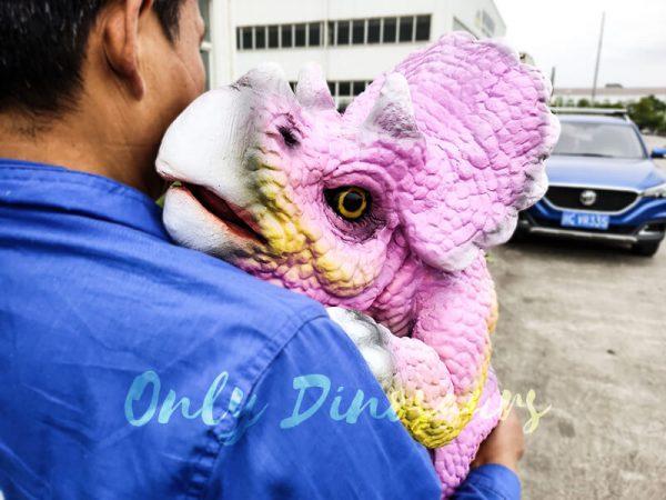 Artificial Dinosaur Pink Puppet Dinosaur Park6 1