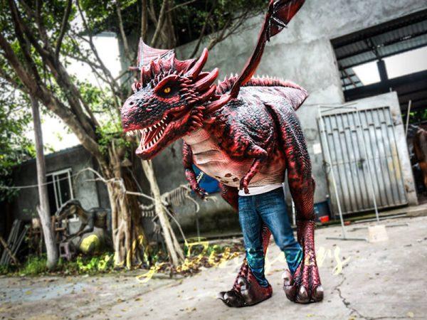 Authentic Lifelike Dragon Costume Visible Legs6 1