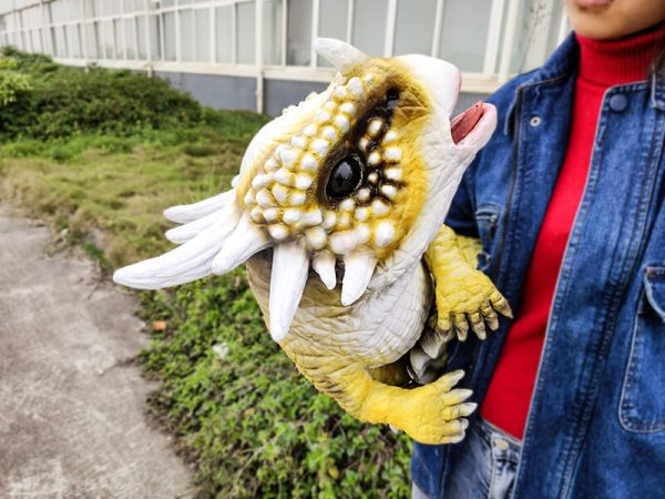 Baby Stygimoloch Puppet With Super Cute Yellow Color3 1
