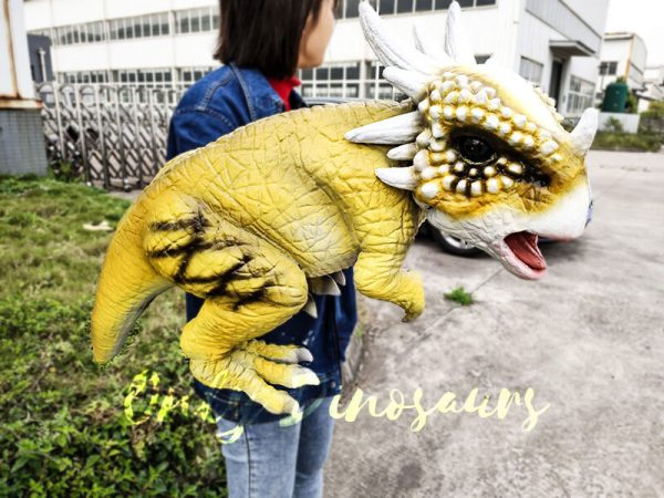 Baby Stygimoloch Puppet With Super Cute Yellow Color4 1
