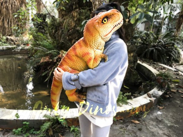 Baby T Rex Puppet with Orange Stripe2