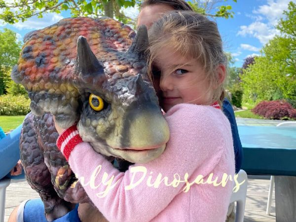 Baby Triceratops Puppet Polychrome Kids Toy1 2