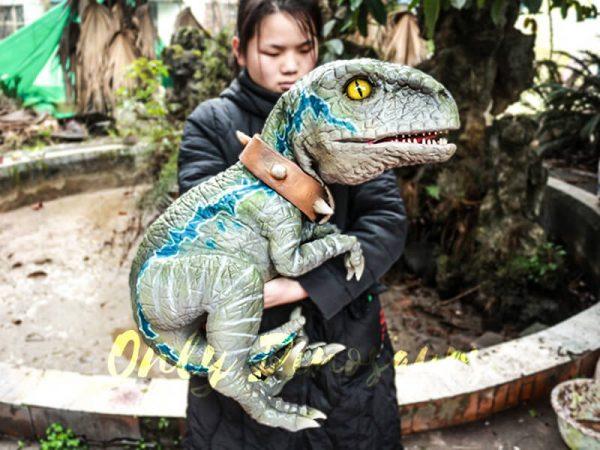 Baby Velociraptor Dinosaur Puppet for Kids5 1