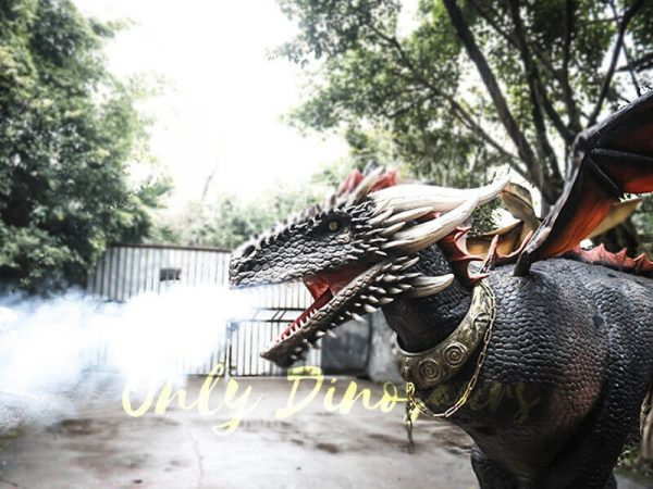Black Realistic Halloween Dragon Costume4