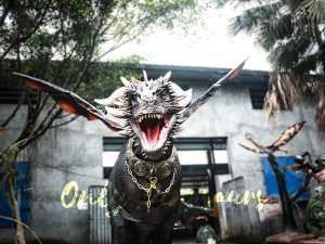 Black Realistic Halloween Dragon Costume