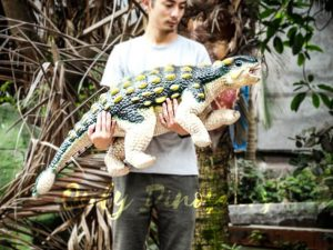 Cute Custom Green Baby Ankylosaurus Puppet