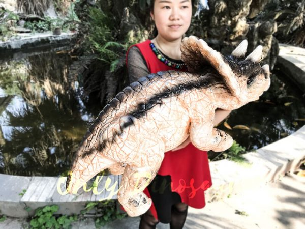 Customized Baby Dinosaur Puppet with Black Stripe3 1