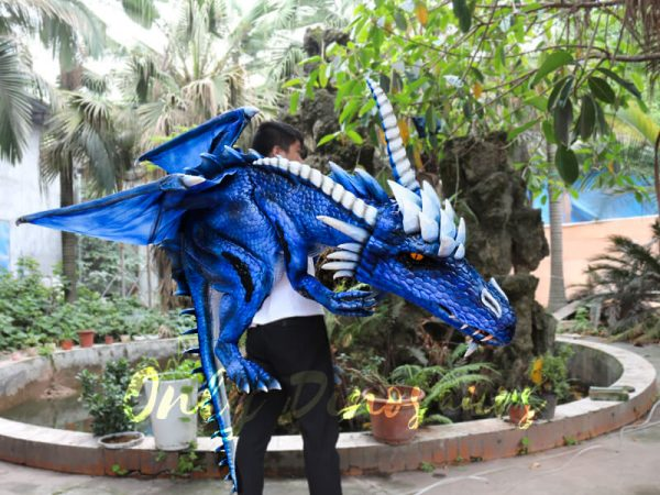 Customized-Blue-Ice-Dragon-Shoulder-Puppet-1