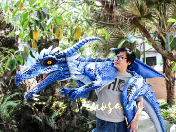 Customized Blue Ice Dragon Shoulder Puppet1 1