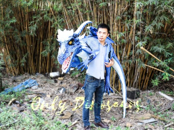 Customized Blue Ice Dragon Shoulder Puppet2 1