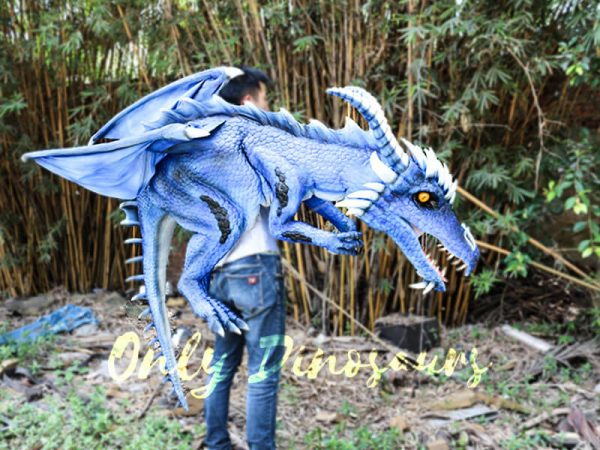 Customized Blue Ice Dragon Shoulder Puppet3 1
