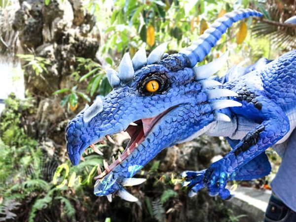 Customized Blue Ice Dragon Shoulder Puppet4 1