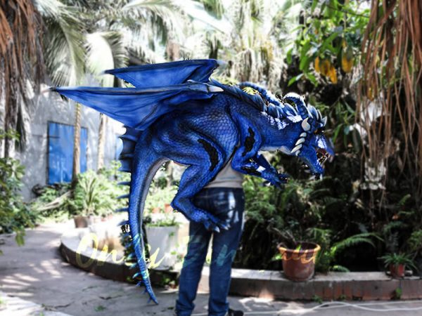 Customized Blue Ice Dragon Shoulder Puppet5 1