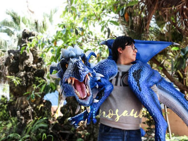 Customized Blue Ice Dragon Shoulder Puppet6 1