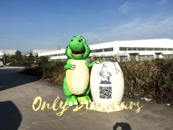 Cute Cartoon Dinosaur Costume in Green Color2 1