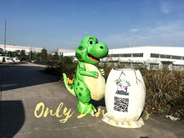 Cute Cartoon Dinosaur Costume in Green Color4 1