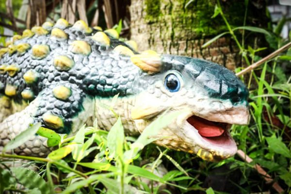 Cute Custom Green Baby Ankylosaurus Puppet3