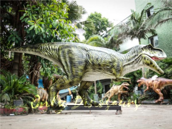 Dinosaur Exhibition Realistic Animatronic T Rex Green1 1