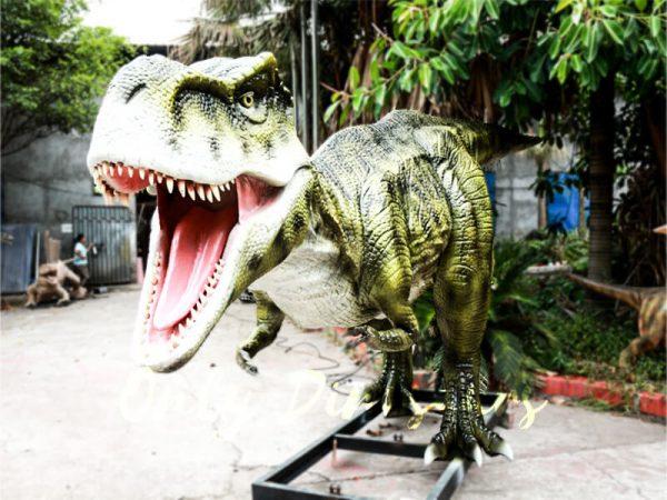 Dinosaur Exhibition Realistic Animatronic T Rex Green2 1