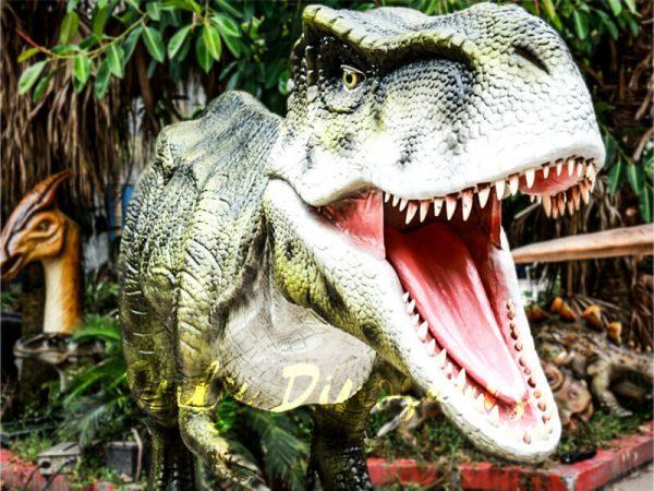 Dinosaur Exhibition Realistic Animatronic T Rex Green3 1