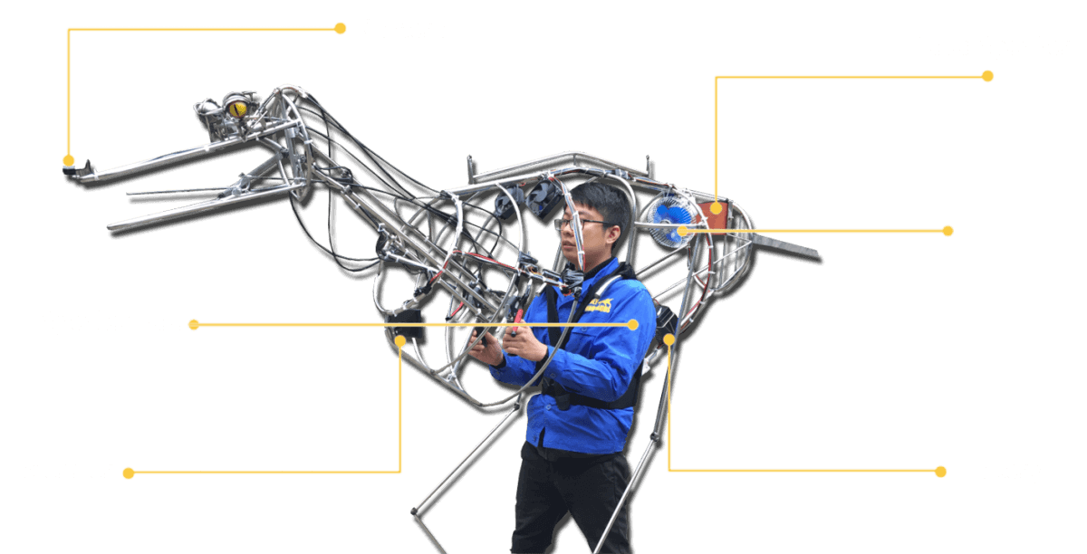 Electricals-Equipment-of-Realistic-Dinosaur-Costume