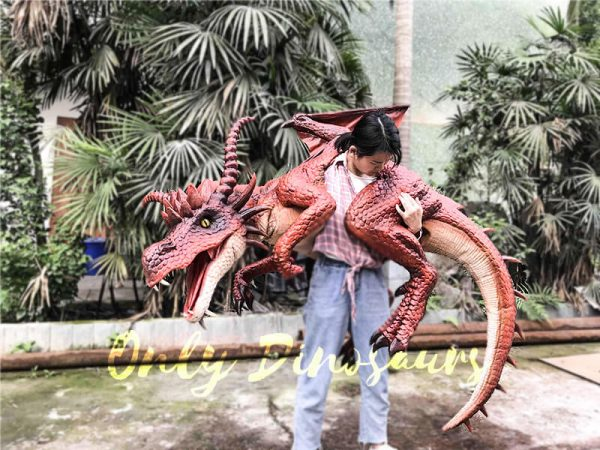 Eye-catching Full Body Puppet Myths Dragon in Red1