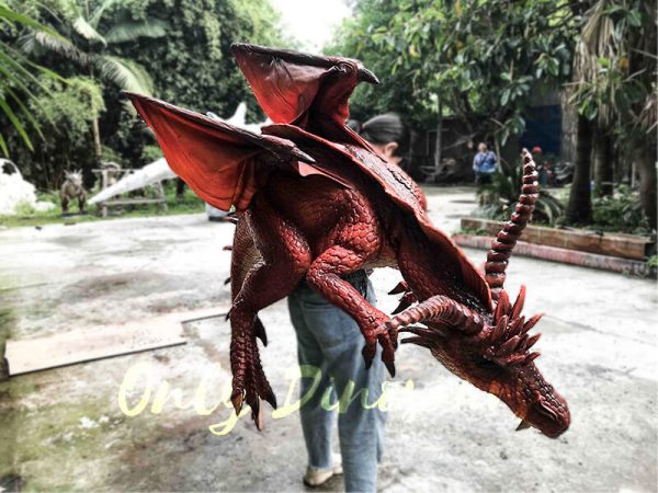 Eye-catching Full Body Puppet Myths Dragon in Red3