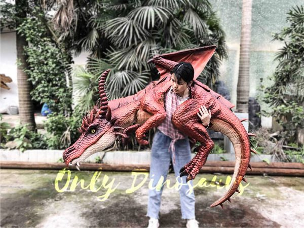 Eye-catching Full Body Puppet Myths Dragon in Red4