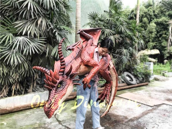 Eye catching Full Body Puppet Myths Dragon in Red5 1