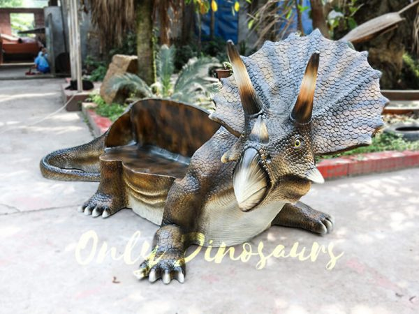 Fiberglass Triceratops Dinosaur Chair for Amusement Park2 1