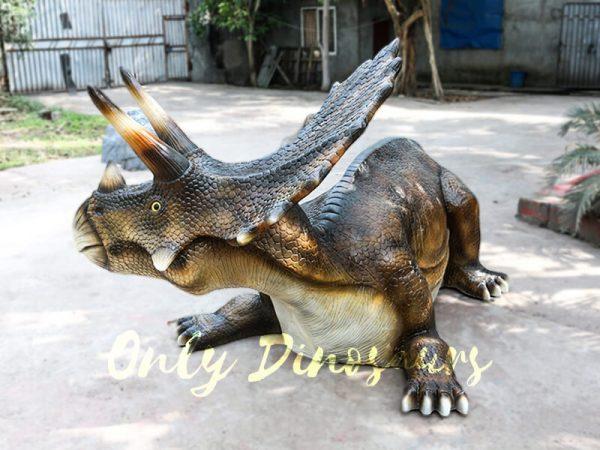 Fiberglass Triceratops Dinosaur Chair for Amusement Park3 1