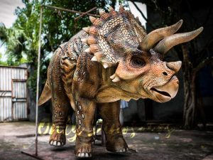 Four Legged Dinosaur Costume Triceratops Suit
