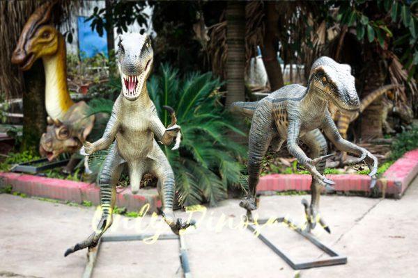 Full Size Fiberglass Dinosaur Velociraptor in Group2 1