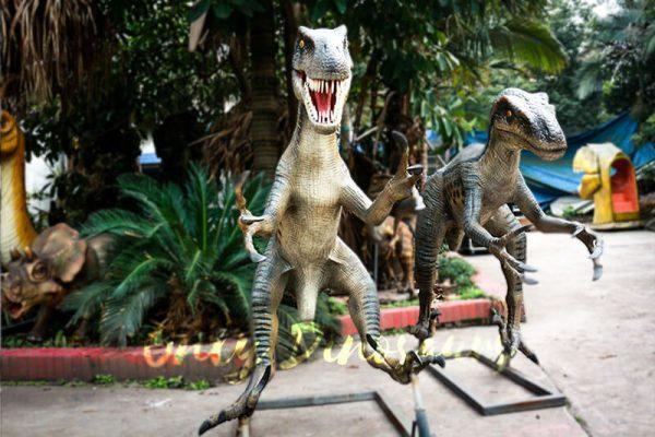Full Size Fiberglass Dinosaur Velociraptor in Group3 1