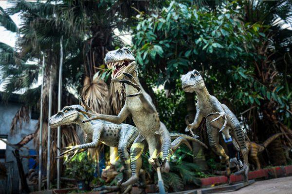 Full Size Fiberglass Dinosaur Velociraptor in Group6 1