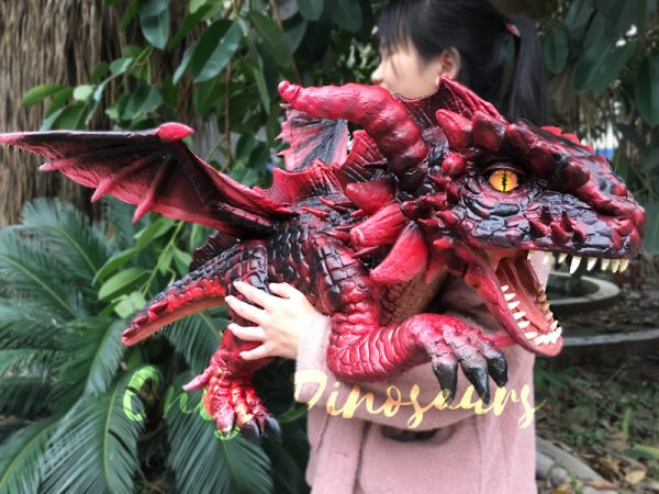 Hand-Puppet-Arm-Hugging-Magic-Baby-Dragon-Red2-2