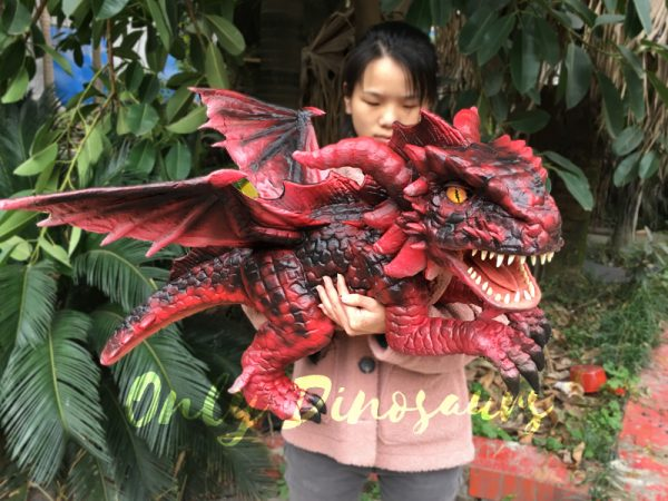 Hand-Puppet-Arm-Hugging-Magic-Baby-Dragon-Red3-2