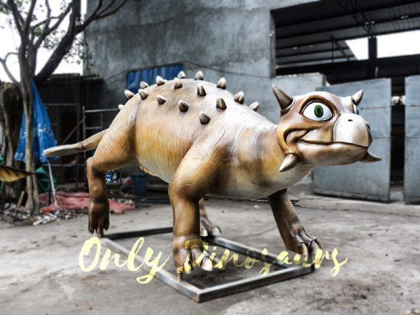 Helmeted Custom Dinosaur Ankylosaur with Cute Eyes11