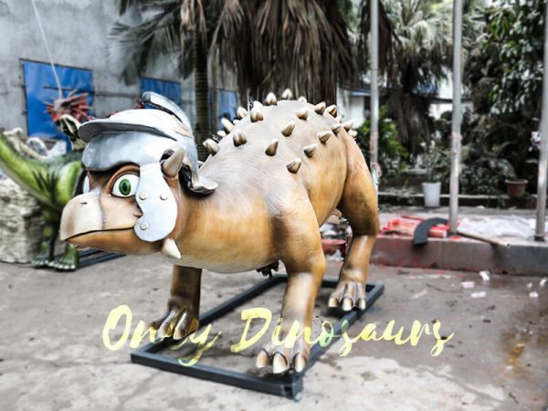 Helmeted Custom Dinosaur Ankylosaur with Cute Eyes2 1