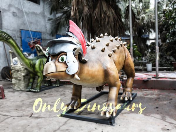 Helmeted Custom Dinosaur Ankylosaur with Cute Eyes6 1