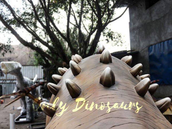 Helmeted Custom Dinosaur Ankylosaur with Cute Eyes7