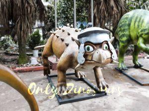 Helmeted Custom Dinosaur Ankylosaur with Cute Eyes
