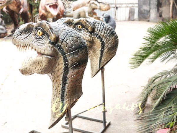 Highly Realistic Fiberglass Statues Velociraptor Head2 1