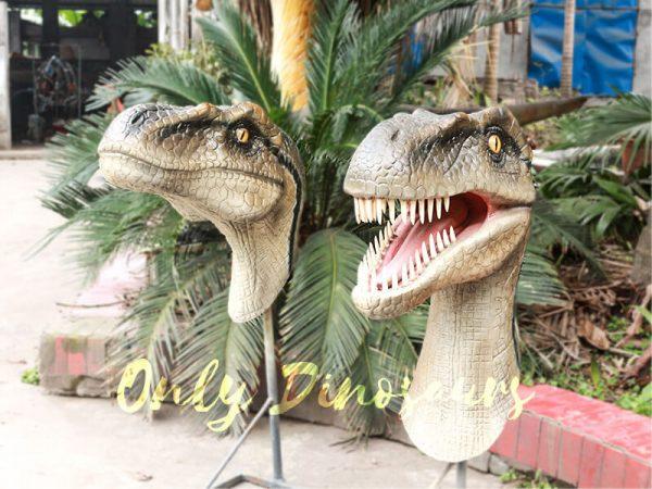 Highly Realistic Fiberglass Statues Velociraptor Head3 1