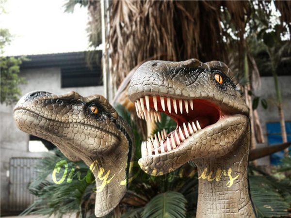 Highly Realistic Fiberglass Statues Velociraptor Head5 1