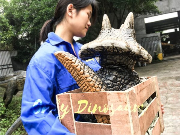 Hot Selling Realistic Dinosaur Puppet in Crate Sandybrown3 1
