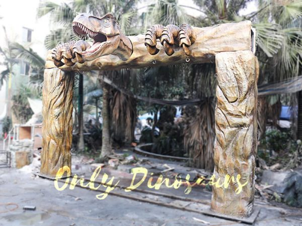 Jurassic Park Fiberglass T Rex Head Gate Entrance1 1