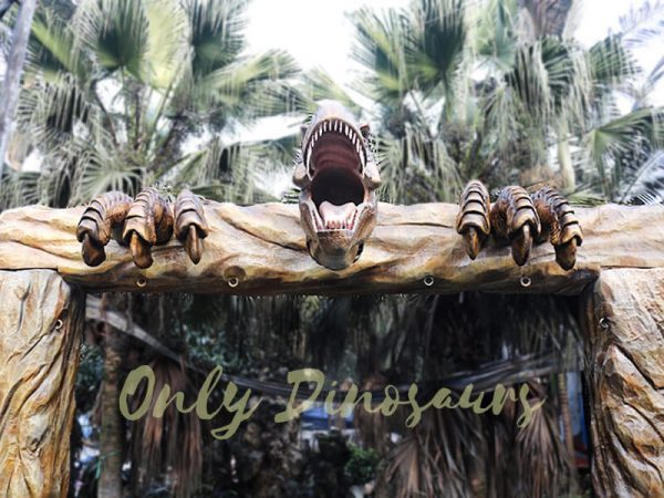 Jurassic Park Fiberglass T Rex Head Gate Entrance4 1