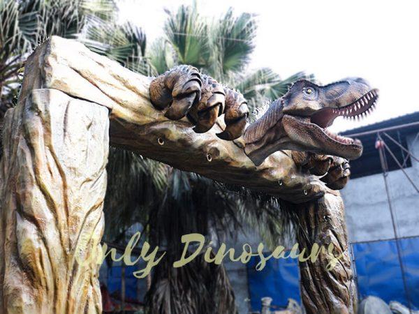 Jurassic Park Fiberglass T Rex Head Gate Entrance6 1