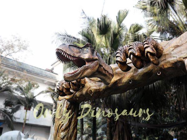Jurassic Park Fiberglass T Rex Head Gate Entrance7 1